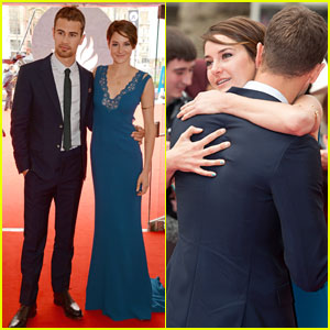 Shailene Woodley & Theo James Hug it Out at the 'Divergent' Premiere!