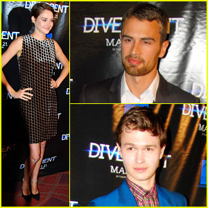 Shailene Woodley & Theo James: 'Divergent' Chicago Screening with Ansel Elgort!