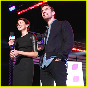 Shailene Woodley & Theo James Present at mtvU Woodie Awards & Festival 2014