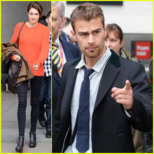 Shailene Woodley & Theo James Don't Stop Promoting 'Divergent' in London