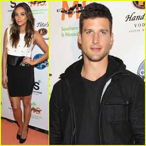 Shay Mitchell & Parker Young Attend the L.A. Celebrity Walk MS Kick Off!