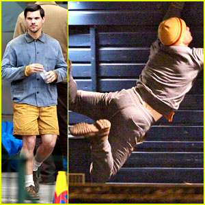 Taylor Lautner Does His Own Stunts for 'Cuckoo'!