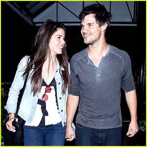 Taylor Lautner & Marie Avgeropoulos Hold Hands & Basically Make the Cutest Couple!