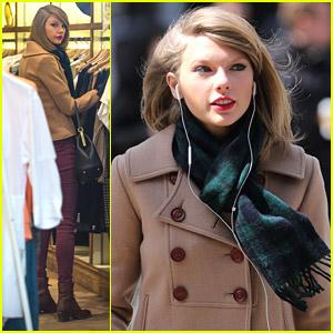 Taylor Swift: Windy Window Shopping in NYC