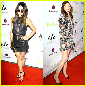Vanessa Hudgens & Aly Michalka Hit Up 'Ale by Alessandra' Collection Launch