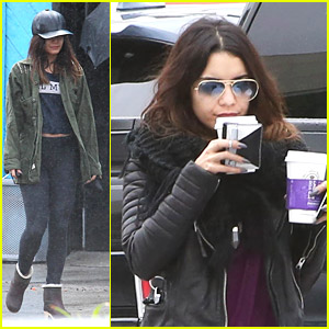 Vanessa Hudgens Picks Up Sunday Morning Coffee