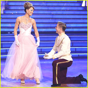 Amy Purdy & Derek Hough Become Disney Royalty for DWTS