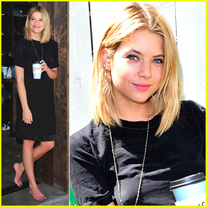 Ashley Benson Goes One Day Without Shoes With Toms