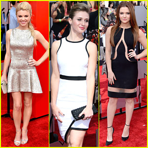 Faking It's Bailey Buntain, Rita Volk & Katie Stevens - MTV Movie Awards 2014