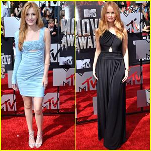Bella Thorne & Debby Ryan Hit The MTV Movie Awards 2014