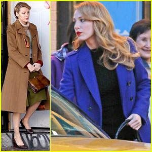 Blake Lively Grabs Cab in Chinatown for 'The Age of Adaline'