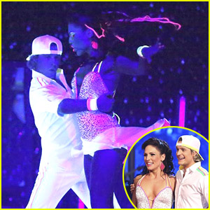 Charlie White & Sharna Burgess: DWTS Black Light Cha Cha!