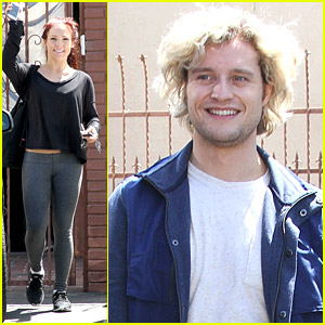 Charlie White & Sharna Burgess Juggle Oranges During DWTS Practice