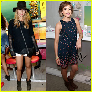Claire Holt & Nicole Anderson Show Off a Little Leg at Coachella 2014!