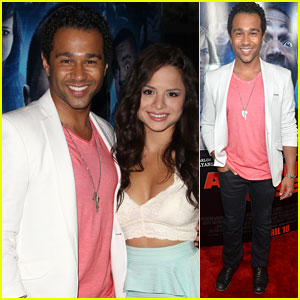 Corbin Bleu & Sasha Clements Brave the 'Haunted House 2' Premiere Together