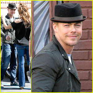Derek Hough Hugs Amy Purdy Ahead of 'DWTS' Switch-Up Practice