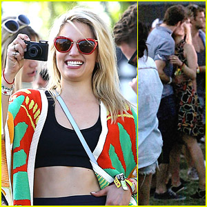 Dianna Agron Captures Memories at Coachella 2014 with Thomas Cocquerel