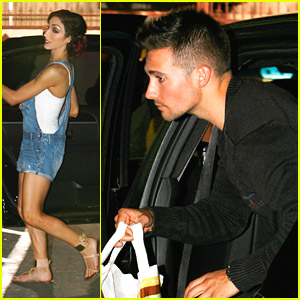 Meryl Davis & James Maslow: Late Night Dinner with DWTS Cast!
