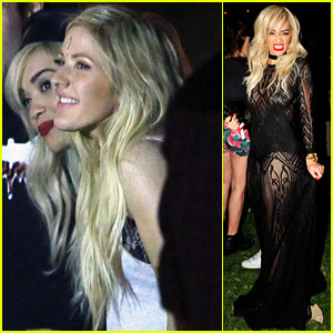 Ellie Goulding & Rita Ora Hang Out at Coachella 2014!