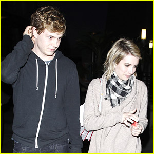 Emma Roberts & Evan Peters Are Just Enjoying Being Engaged