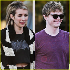 Emma Roberts & Evan Peters Can't Stop Smiling While at Lunch Together