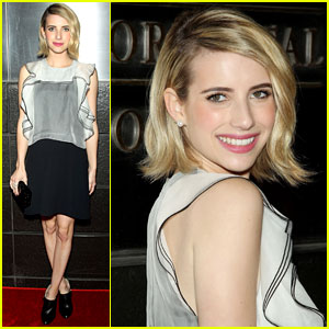 Emma Roberts Ruffles Up at 'New Yorkers for Children' Spring Gala!