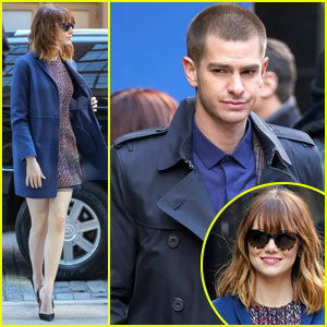 Andrew Garfield & Emma Stone Wear Matching Oufits for 'Good Morning America'