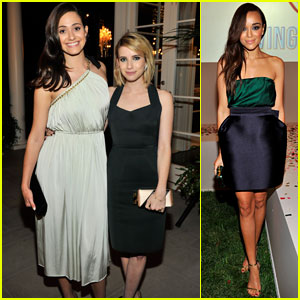 Emmy Rossum and Emma Roberts Get All Dressed Up for 'An Evening Of Fashion'!