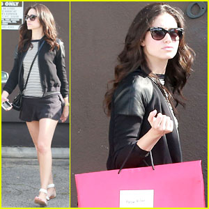 Emmy Rossum: Ready for Retail Therapy at Carolina Herrera!