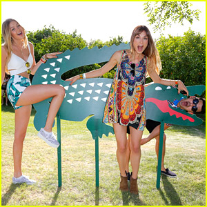 Gigi Hadid Joins Joe Jonas & Blanda Eggenschwiler at Lacoste's Beautiful Desert Pool Party