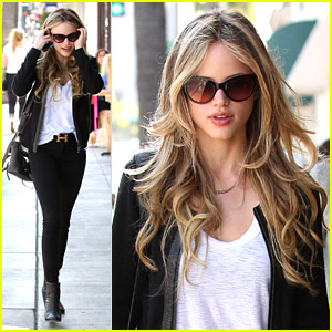Halston Sage Shops Around Beverly Hills