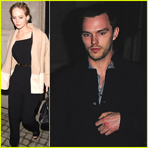 Jennifer Lawrence & Nicholas Hoult Dine With Designer Tom Ford