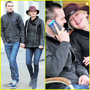 c3cfb24522a6 Jennifer Lawrence   Nicholas Hoult Hold Hands   Look Lovey-Dovey ...