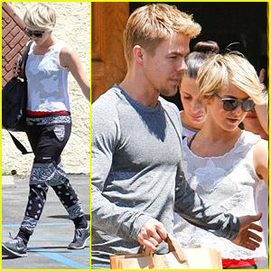 Julianne Hough Visits Brother Derek After Amy Purdy DWTS Injury