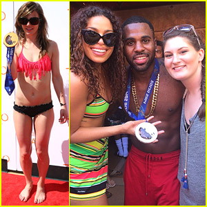 Olympians Kaitlyn Farrington & Devin Logan: TAO Beach Opening with Jason Derulo!