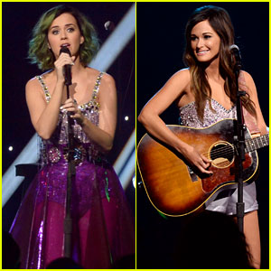 Katy Perry & Kacey Musgraves: Delightful Duo at 'CMT Crossroads'!