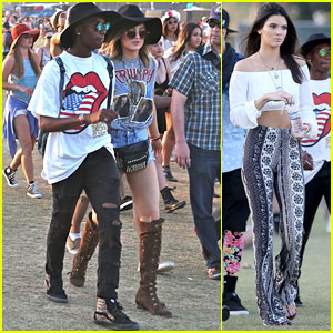 Kendall & Kylie Jenner Are On an Accessory Hunt at Coachella 2014!