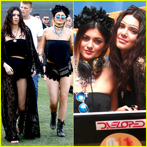 Kendall & Kylie Jenner Color Coordinate Their Coachella Clothes!
