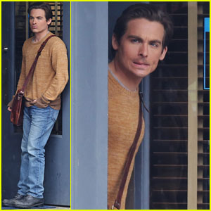 Kevin Zegers Gets Serious on 'Gracepoint' Set