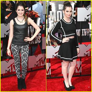 Laura & Vanessa Marano: Black & White Stylish Sisters at MTV Movie Awards 2014