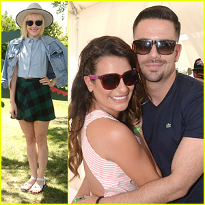 Lea Michele & Mark Salling Party It Up at Coachella 2014 with Jena Malone & Lacoste