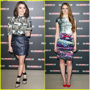 Maisie Williams & Sophie Turner Print It Up for 'Game of Thrones' Italy Premiere