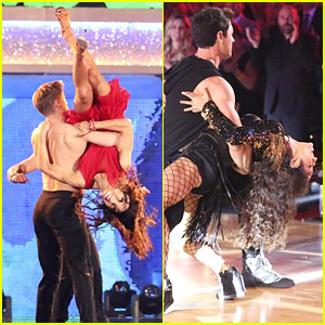 Meryl Davis Gets Flipped & Dipped During 'DWTS' Latin Night