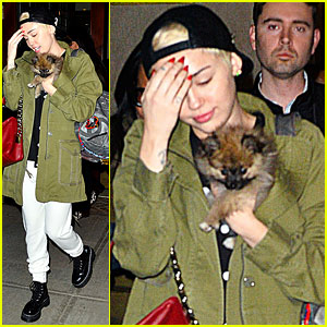 Miley Cyrus Carries New Pup Moonie, Still in 'Excruciating Pain' Over Floyd's Death
