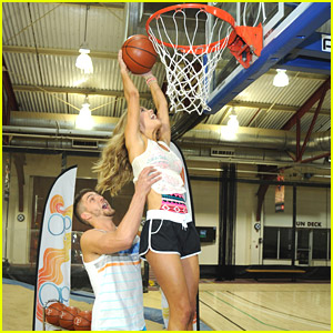 Nina Agdal & Chandler Parsons Play One-On-One For Op's Dunks For Donations Event