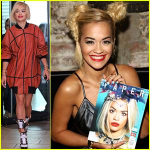 Rita Ora Celebrates Her Paper Magazine Cover!