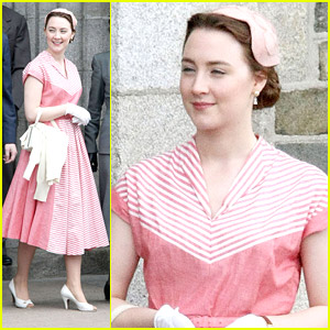 Saoirse Ronan Believes In The Power of Pink on 'Brooklyn' Set
