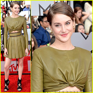 Shailene Woodley Goes Green for MTV Movie Awards 2014