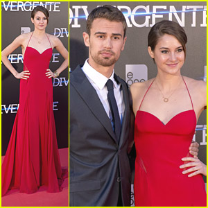 Shailene Woodley Wows In Red at 'Divergent' Madrid Premiere