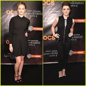 Sophie Turner & Maisie Williams: 'Game of Thrones' Paris Premiere!